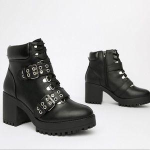 Black Studded Chunky Booties